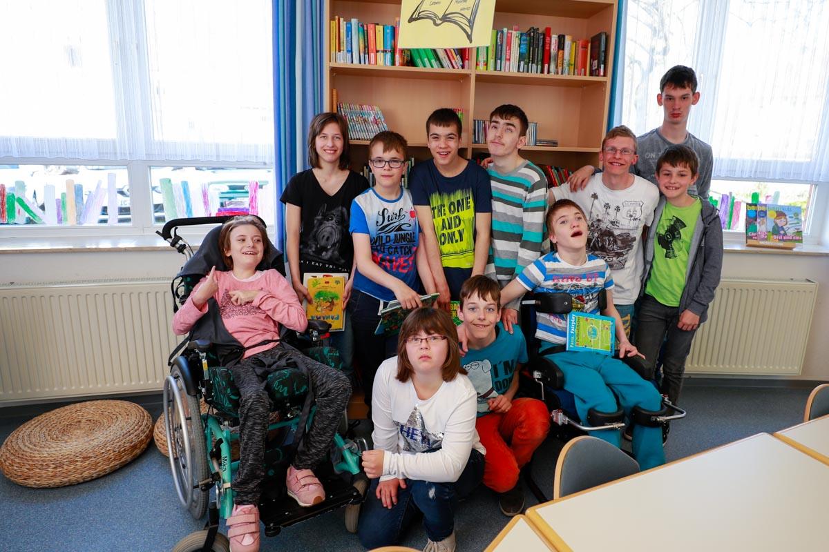 Gruppe Lesewolf der St. Franziskus Schule Dingelstädt
